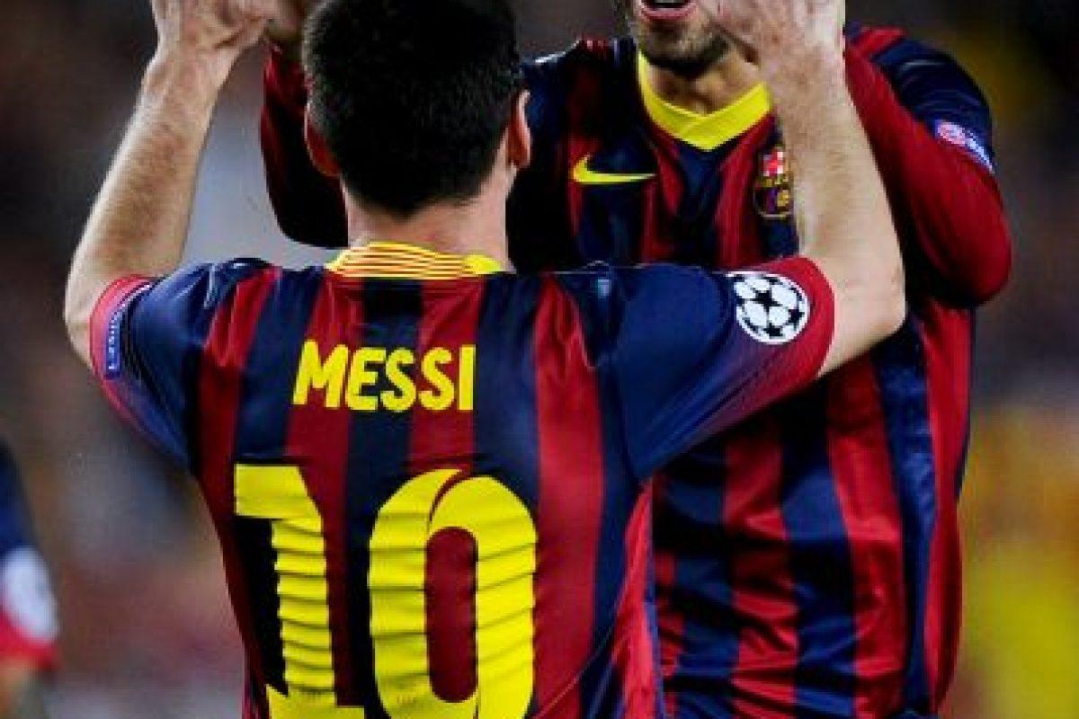 Piqué y Messi suelen festejar juntos los triunfo culés Foto:Getty. Imagen Por: