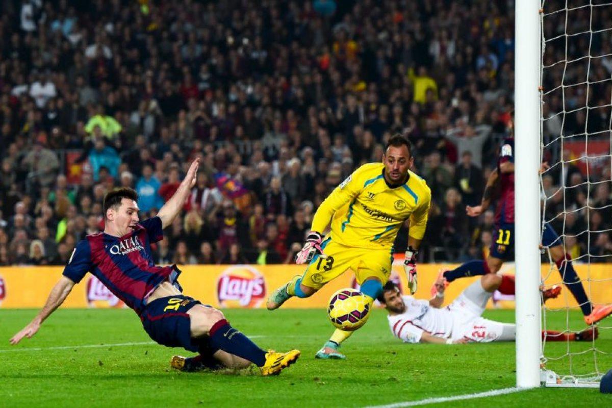 El argentino acaba de romper el récord como máximo goleador de la Champions y de la Liga de España Foto:Getty. Imagen Por: