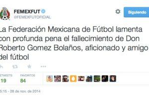 La Federación Mexicana de Fútbol Foto:Twitter. Imagen Por: