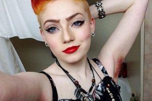 Las mujeres suben a Instagram sus axilas pintadas Foto: @glittrkittn Instagram. Imagen Por: