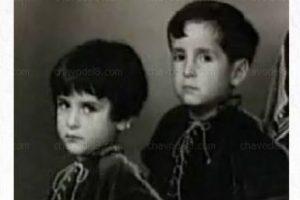 """Nació en Ciudad de México el 21 de febrero de 1929. Tuvo seis hermanos, entre ellos Roberto, con quien aparece en la foto y quien posteriormente sería """"Godínez"""" en """"El Chavo del Ocho"""" Foto:El Chavo del 8/Facebook. Imagen Por:"""