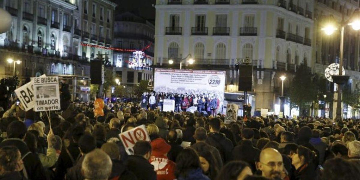 Miles protestan en España contra la austeridad