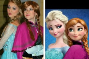 """Anna y Lexie Faith son las imitadoras más populares de Elsa y Anna de """"Frozen"""" Foto:Instagram/Lexiegracelove. Imagen Por:"""