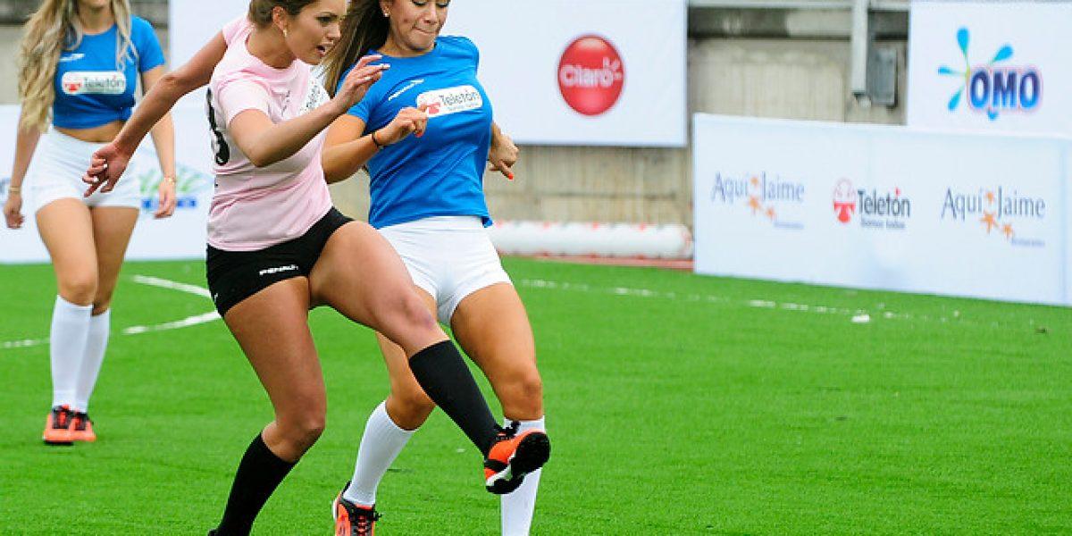 Galería: Las despampanantes chicas de la tv gozaron con el fútbol solidario de la Teletón
