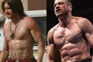 """Aquí una comparación entre el físico de Gyllenhaal cuando filmó """"Príncipe de Persia: Las Arenas del Tiempo"""" (2010) y """"Southpaw"""" (2015). Imagen Por:"""