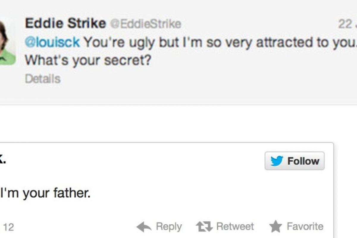 """Alguien le dice al actor Louis C.K: """"Eres feo pero me atraes. ¿Por qué será?"""". Este responde: """"Porque yo soy tu padre"""" Foto:Twitter. Imagen Por:"""