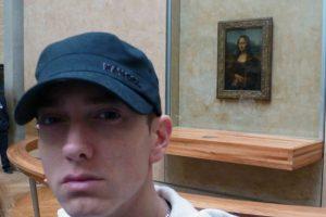 Eminem frente a la Monalisa Foto:Instagram. Imagen Por: