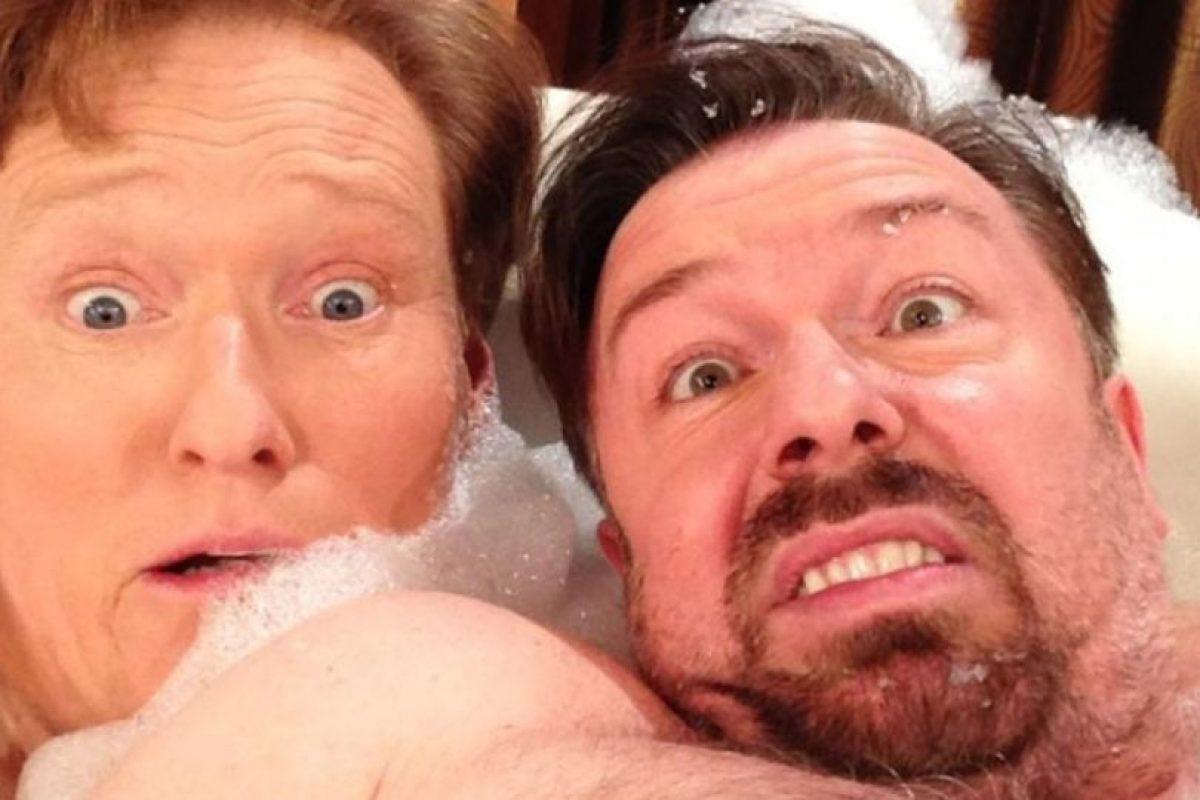Ricky Gervais y Conan O' Brien Foto:Instagram. Imagen Por: