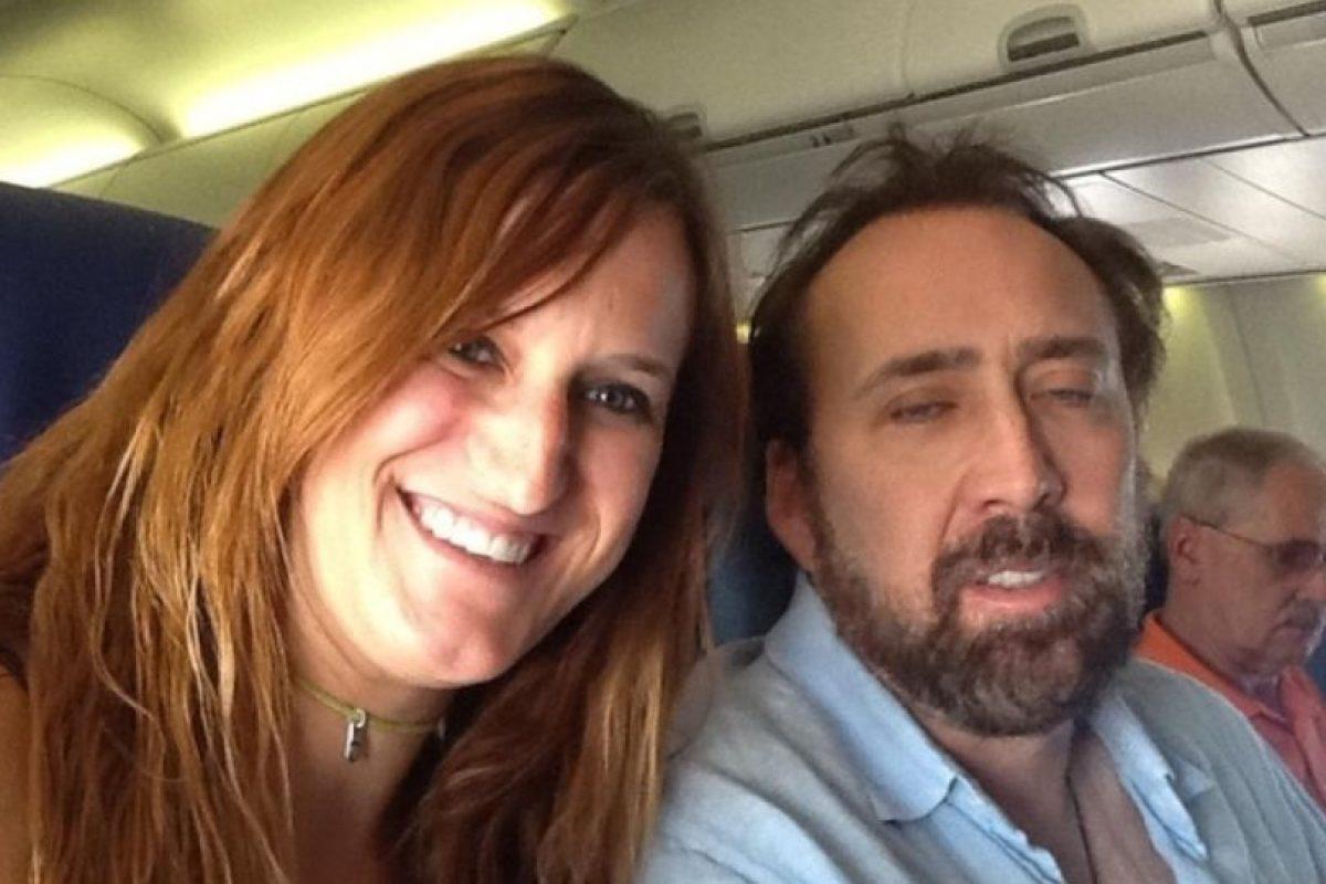Nicolas Cage en un avión Foto:Instagram. Imagen Por: