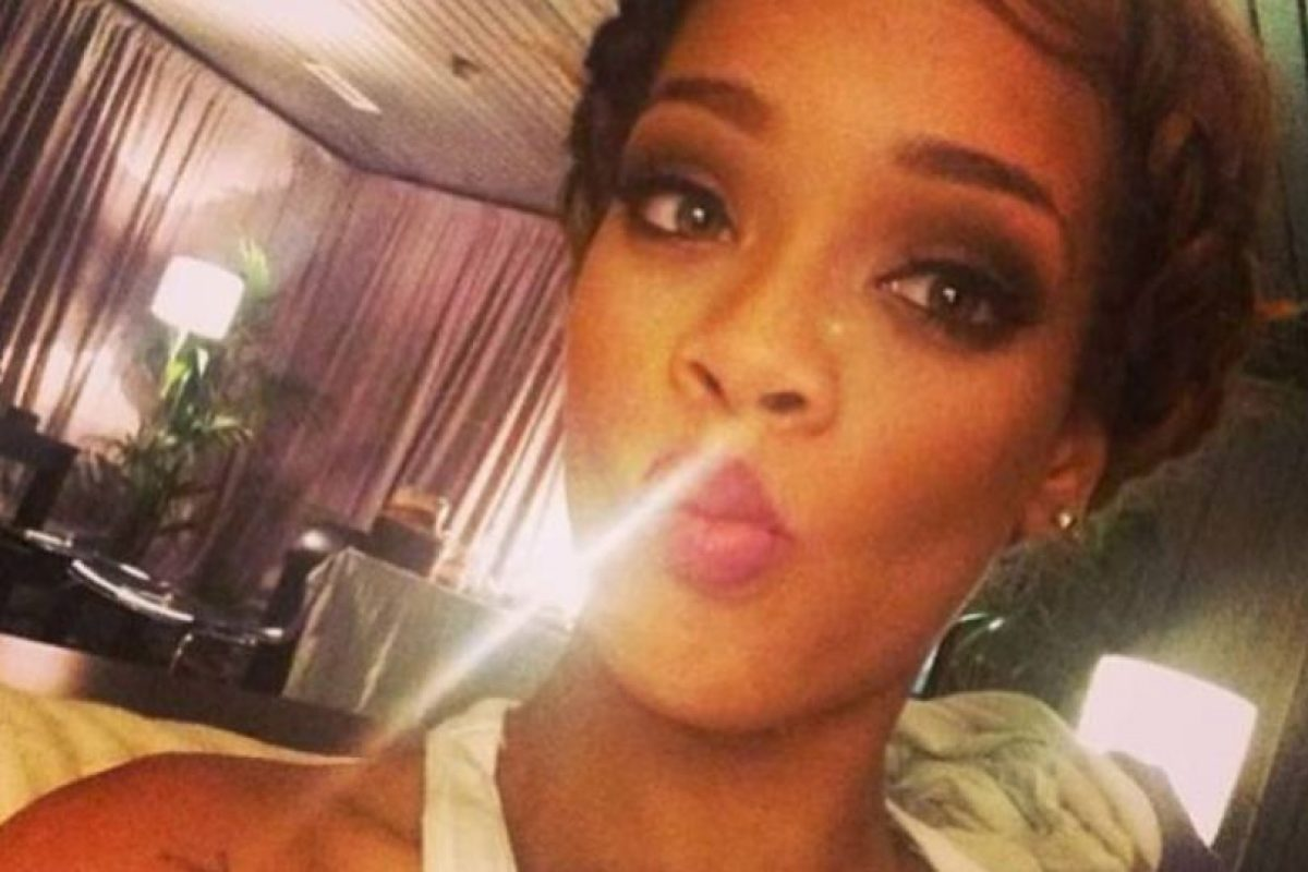 Rihanna y su cara de pato. Foto:Instagram. Imagen Por: