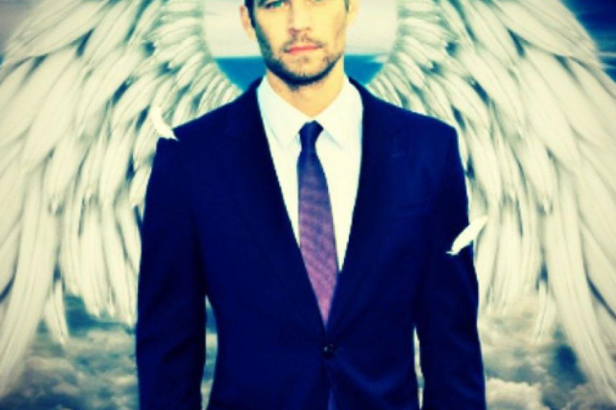 La actriz compartió esta fotografía del Walker como un ángel Foto:Instagram/Michelle Rodríguez. Imagen Por: