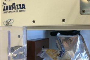 En esta imagen se puede ver que la bolsa está a punto de llenarse. Foto:Lavazza USA. Imagen Por: