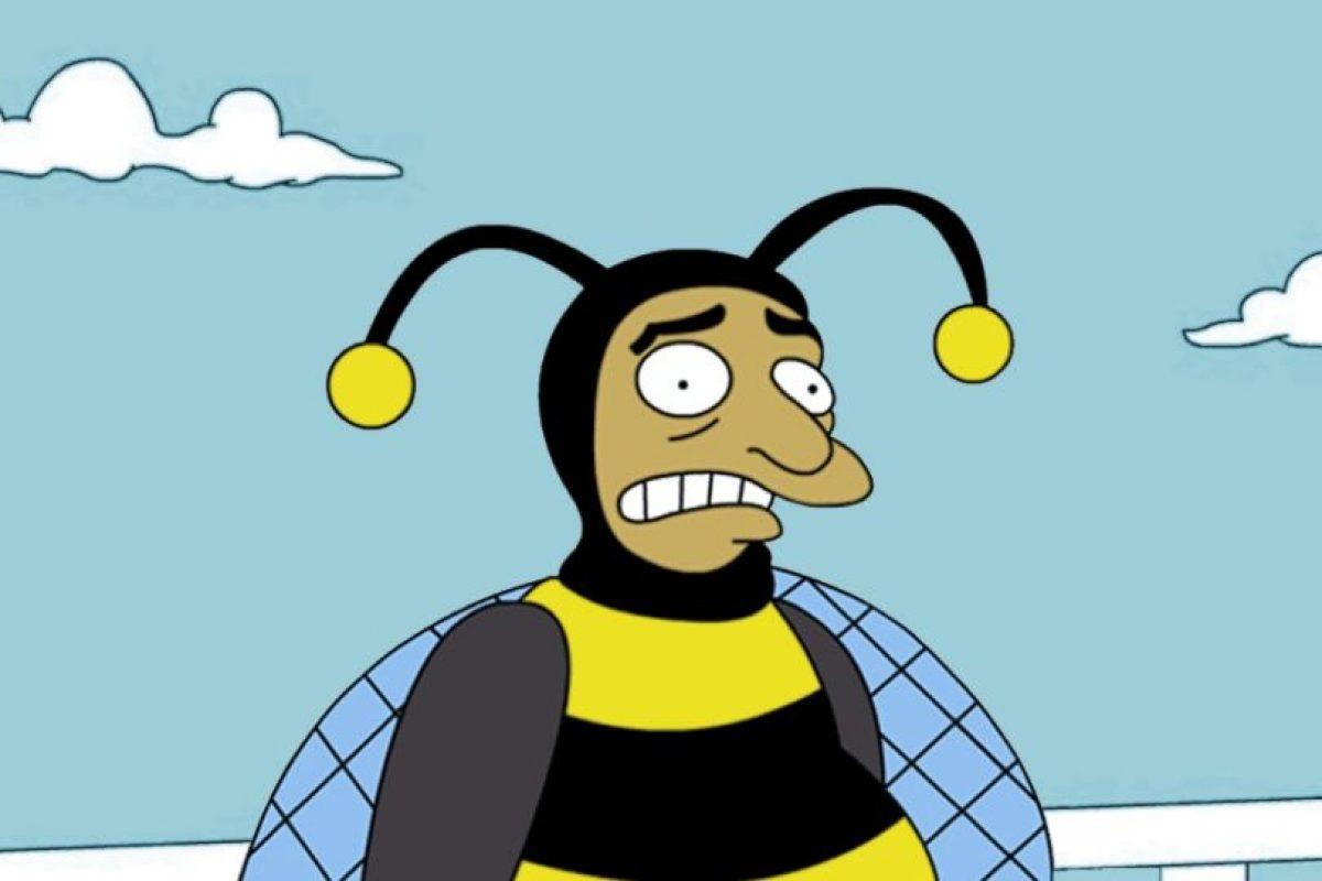 """""""El Hombre Abejorro"""" o """"Bumblebee Man"""" es el personaje que crearon en """"Los Simpsons"""" inspirado en """"Chespirito"""" Foto:Fox. Imagen Por:"""
