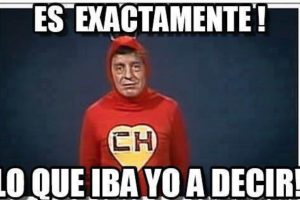 """Tal y como lo hacía """"Chespirito"""" en sus programas Foto:Roberto Gómez Bolaños/Facebook. Imagen Por:"""