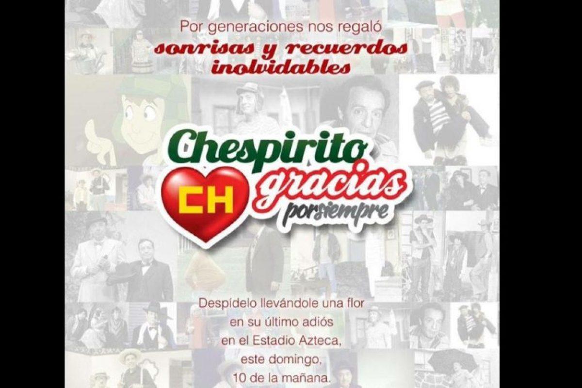 Televisa está convocando a la gente para un homenaje el 30 de noviembre en el Estadio Azteca Foto:Twitter/TelevisaTvMx. Imagen Por: