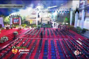 Así se alista una misa para Chespirito en las instalaciones del canal. Foto:Twitter/TelevisaTvMx. Imagen Por: