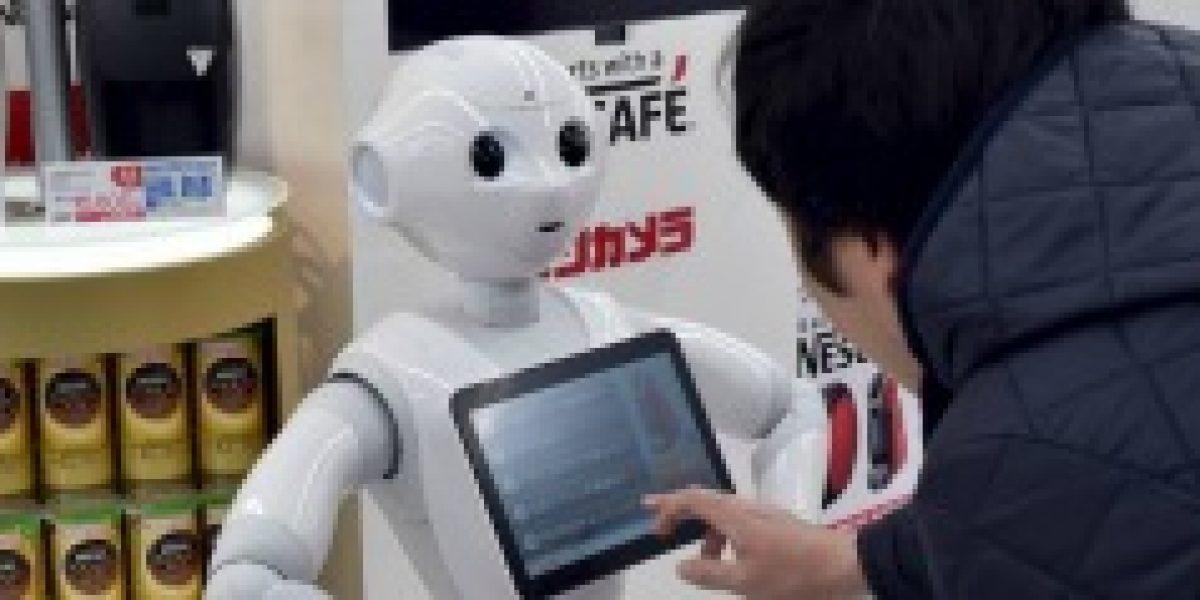 Presentan robot vendedor de máquinas de café