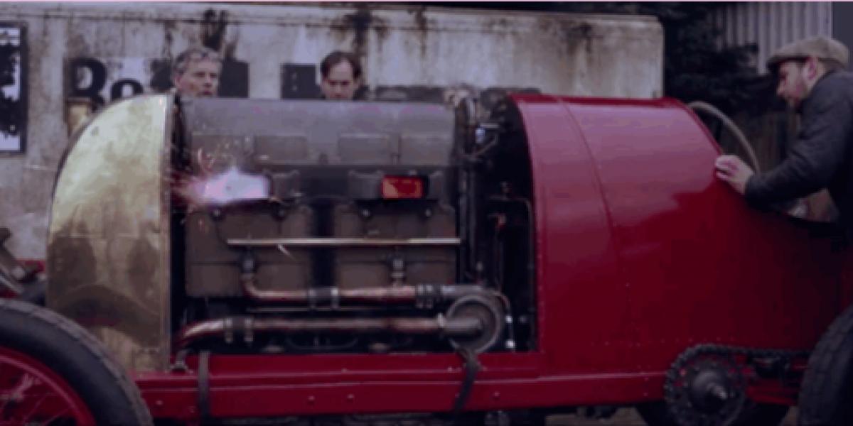 Hicieron arrancar un motor de 100 años de vida