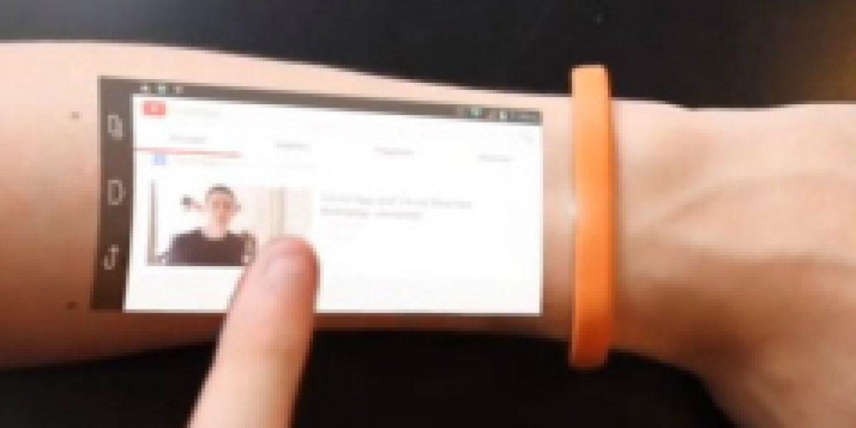 Conoce el dispositivo que convierte nuestra piel en una tablet
