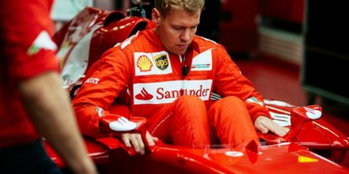 Sebastian Vettel y su primer día en Ferrari