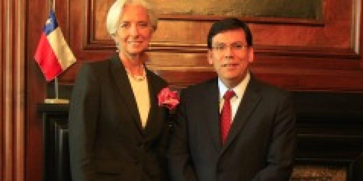 Directora de FMI llega a Chile y se reúne con ministro de Hacienda