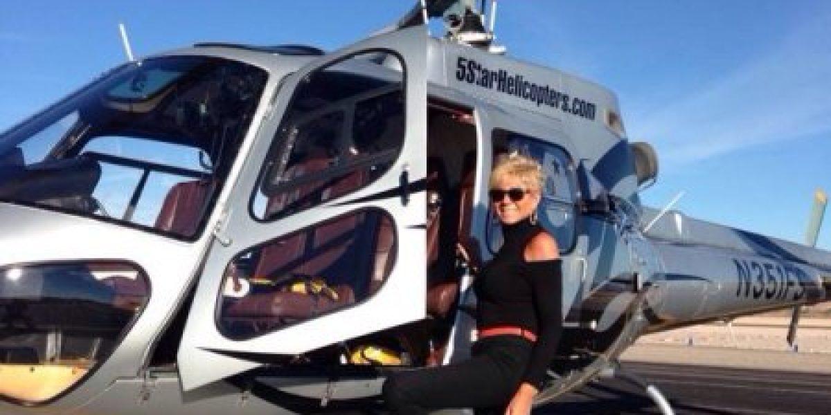 ¡Todo pasando en Las Vegas!: Hasta en helicóptero celebra Argandoña sus 57 años