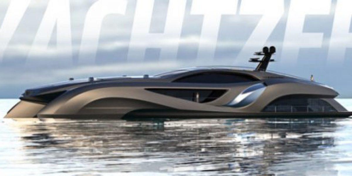 El yate de lujo que parece un auto deportivo