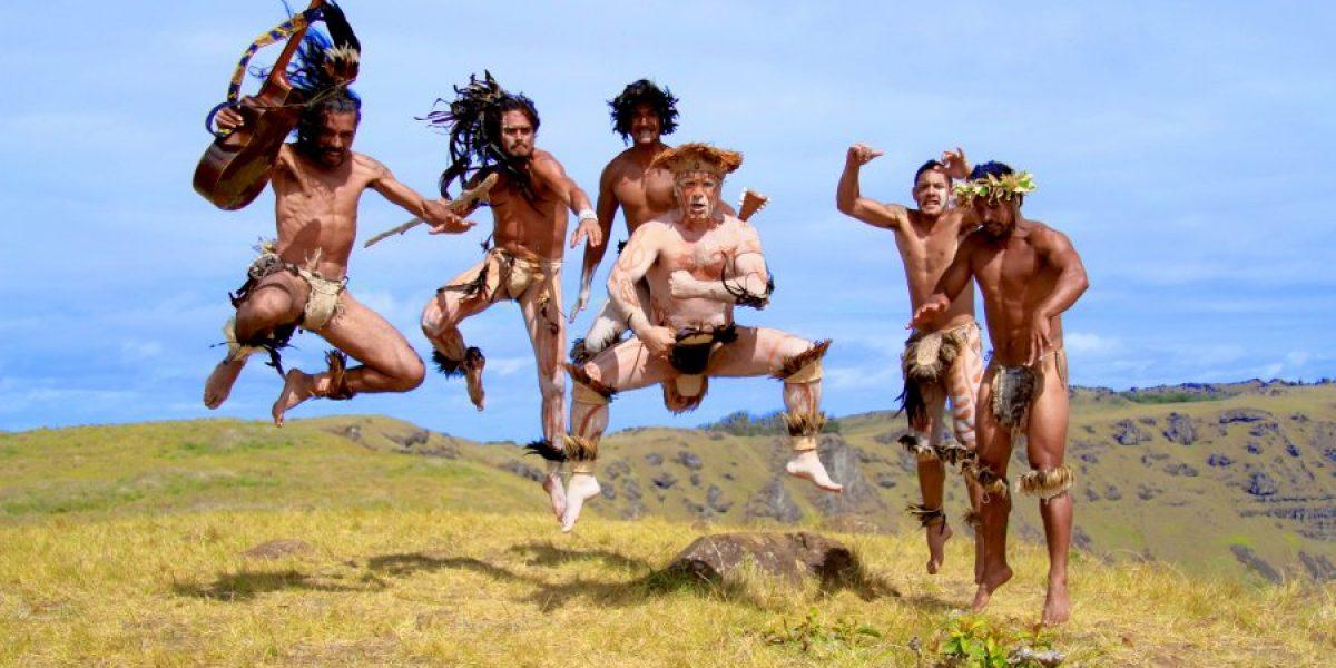 Luis Jara grabó video en Rapa Nui: