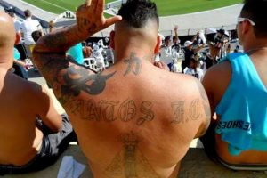 En total, son 14 los tattoos que el hincha del Peixe tiene en su cuerpo Foto:Facebook. Imagen Por: