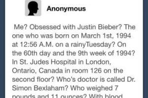Justin, una orden de alejamiento para esta. Foto:Oddee. Imagen Por: