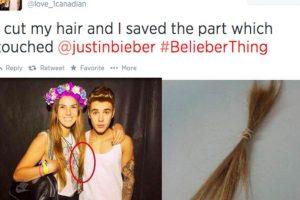 El pelo que tocó a Justin. Foto:Twitter. Imagen Por: