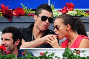 Cristiano e Irina en el Mutua Madrileña Madrid Open en mayo de 2012. Foto:Getty Images. Imagen Por: