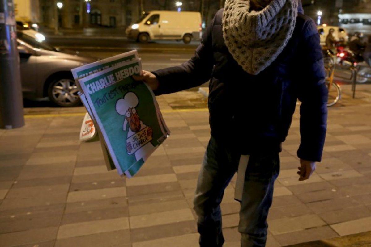 El Charlie Hebdo ahora es famoso en todo el mundo. Foto:Getty Images. Imagen Por: