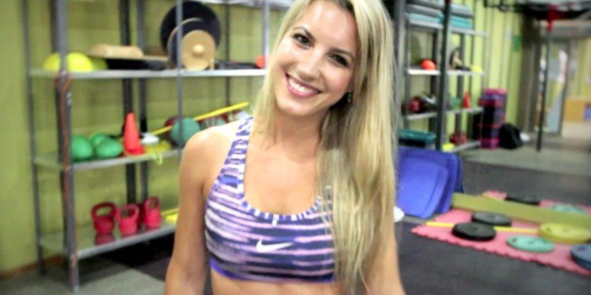 Pura belleza y sensualidad: Lucila Vit se pone en forma con dura sesión de ejercicios