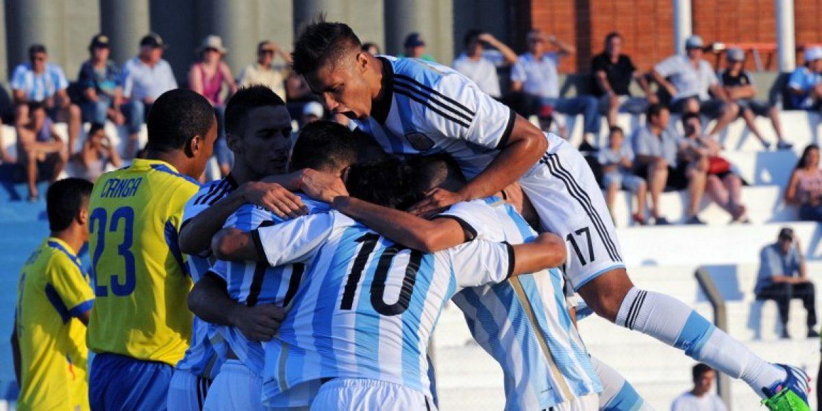 Argentina se candidatea tras golear a Ecuador en el inicio del Sudamericano Sub 20