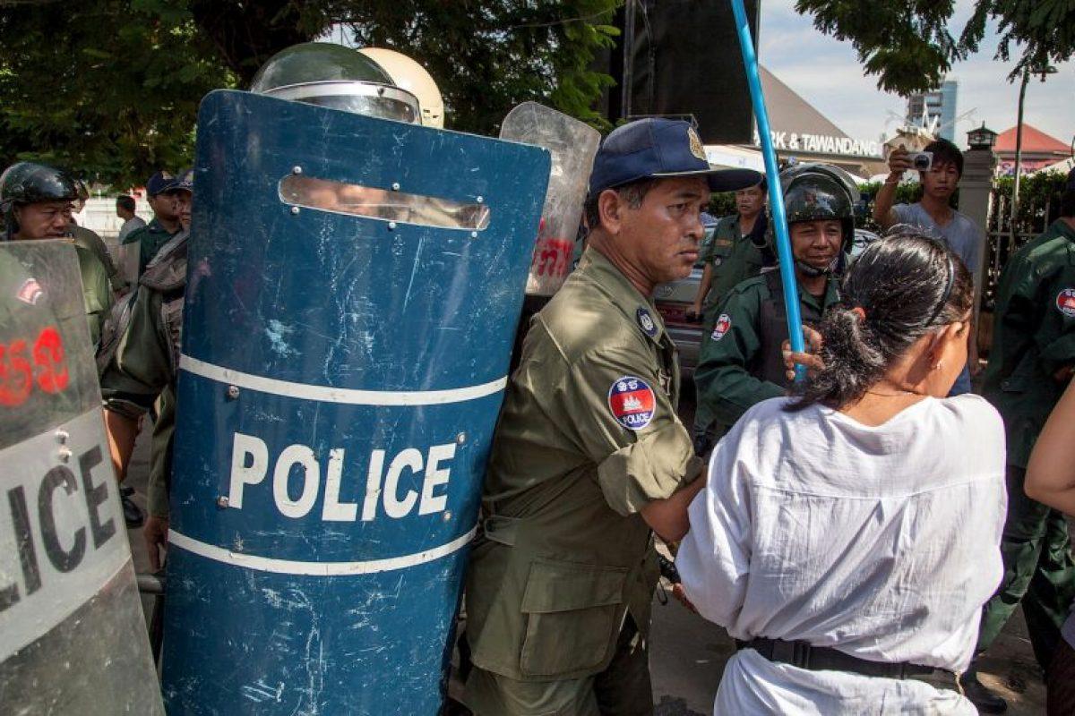 Los monjes alegaban fraude electoral. Foto:Getty. Imagen Por: