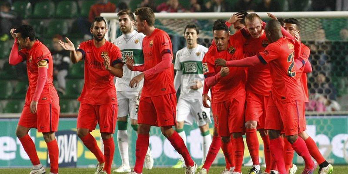 Sin apurarse mucho, el Barça volvió a golear al Elche y avanzó a los cuartos de Copa