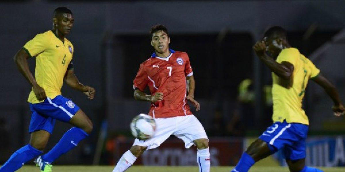 La Rojita cayó en ajustado partido ante Brasil en su debut en el Sudamericano Sub 20