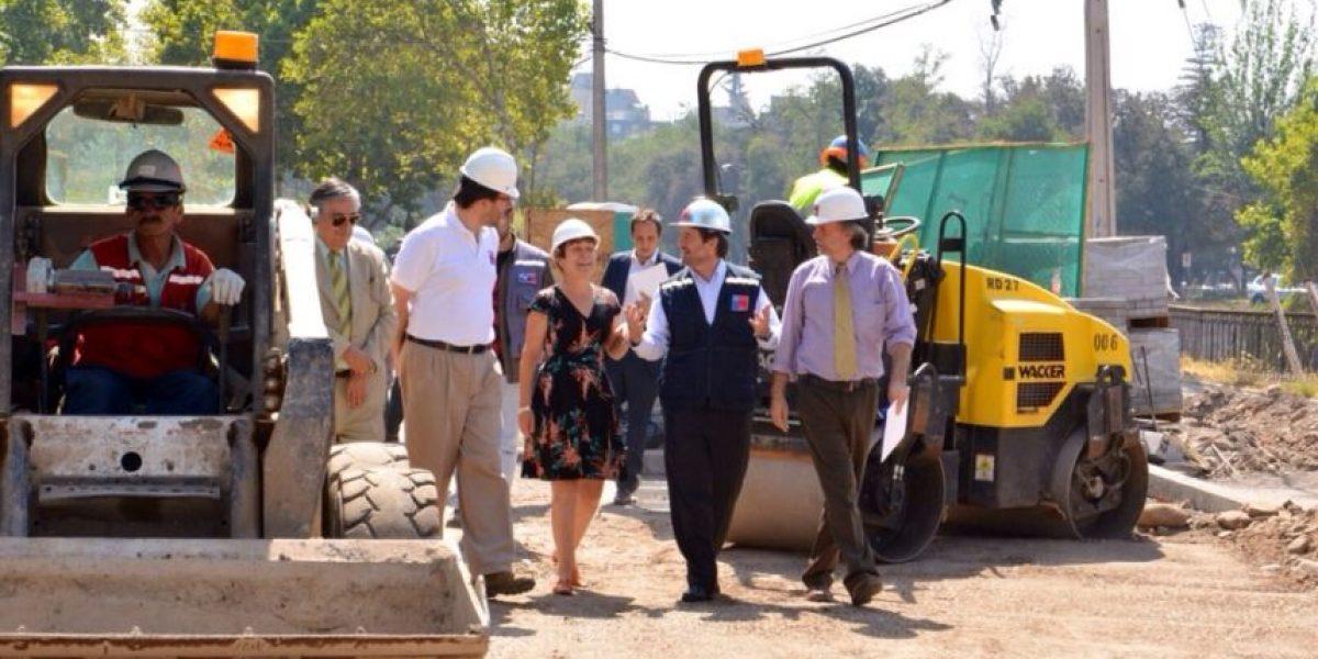 Comienzan trabajos en Providencia por tramo de ciclovía de proyecto Mapocho 42K