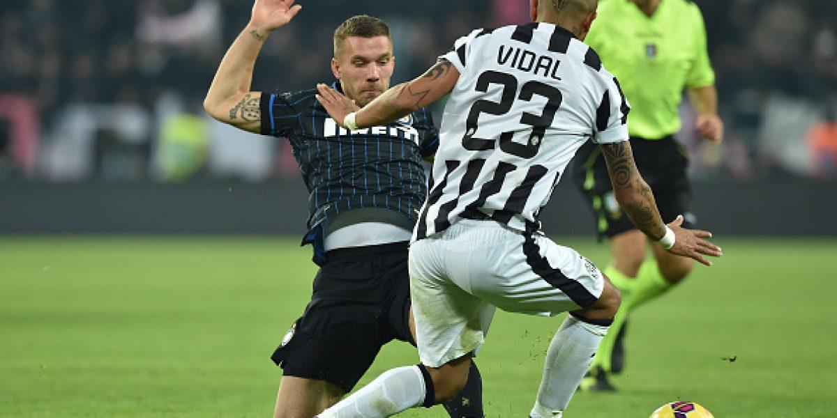 Arturo Vidal es duda en Juventus por cuadro febril