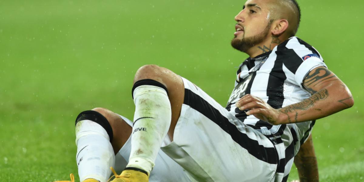 Arturo Vidal se encuentra hospitalizado y se perderá el duelo de Juventus por Serie A