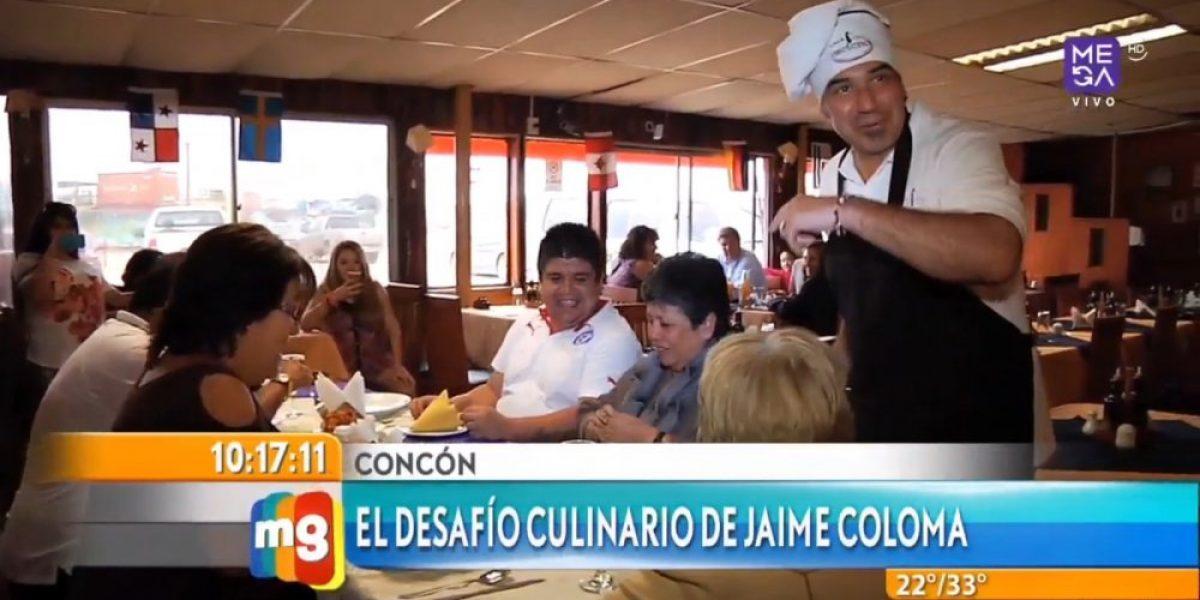 Jaime Coloma se lució como cocinero en Concón