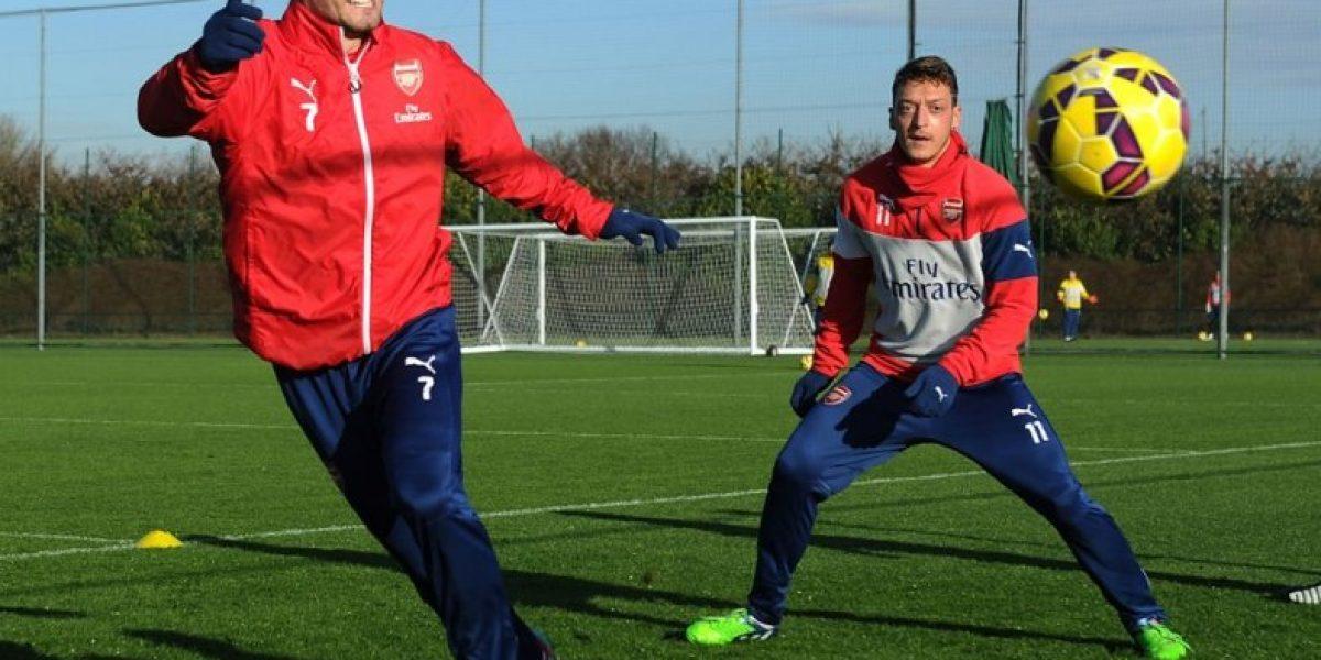 ¡A lo Rambo! la intensa práctica de Alexis y el Arsenal antes de enfrentar al City