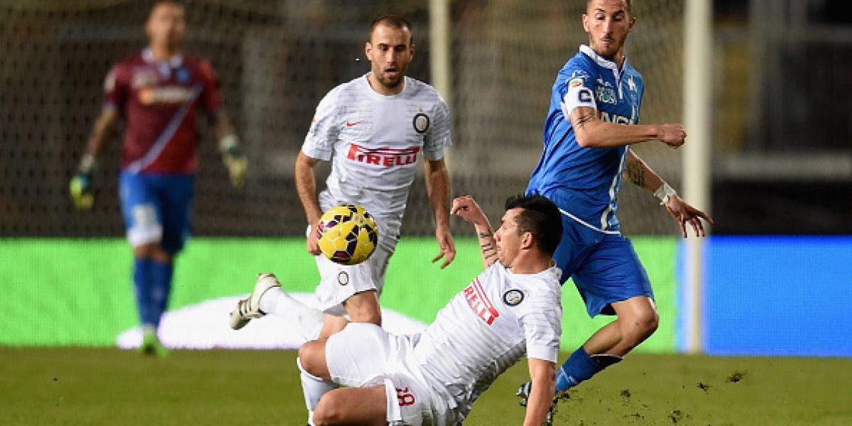 Un discreto Inter con Medel sólo igualó ante el modesto Empoli