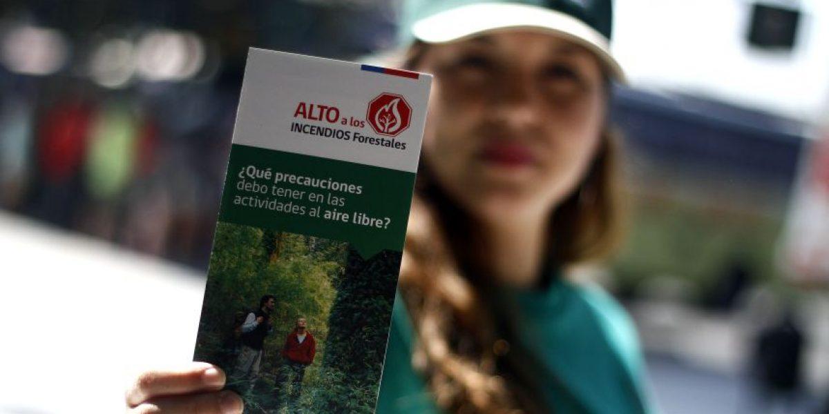 CONAF: Dismuyen en un 40% los incendios forestales en la zona central