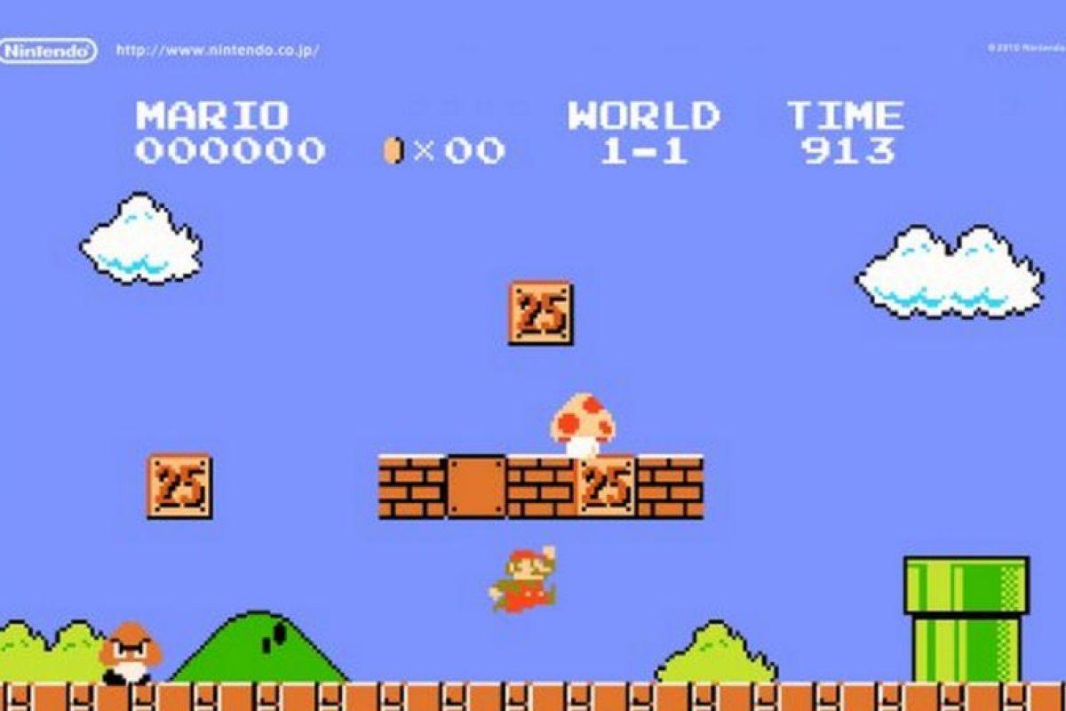 La primera versión de Super Mario Bros Foto:Nintendo. Imagen Por: