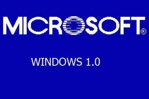 La primera edición de Windows (1.0) Foto:Microsoft. Imagen Por:
