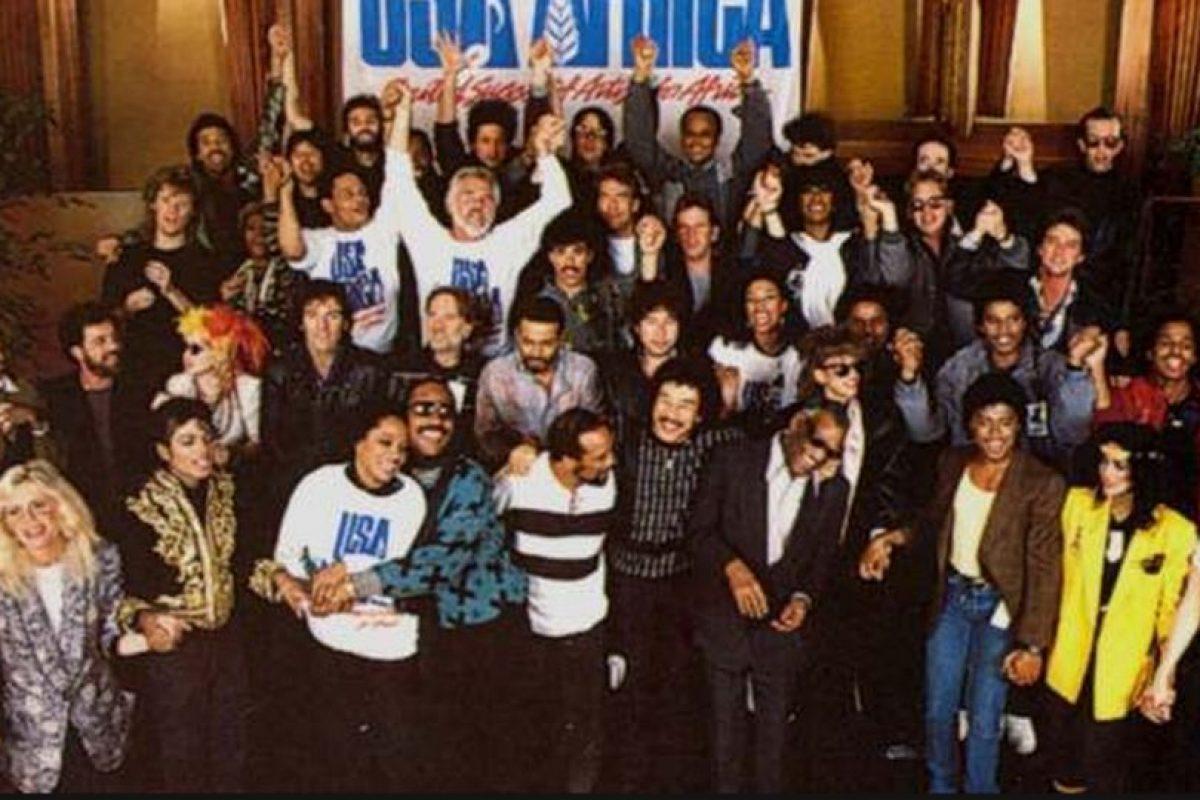 """El estreno de la canción """"We Are The World"""" Foto:taringa.net. Imagen Por:"""