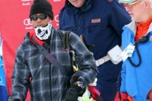 El golfista estadounidense se presentó así a la competencia de su novia, la esquiadora Lindsey Von Foto:Getty. Imagen Por: