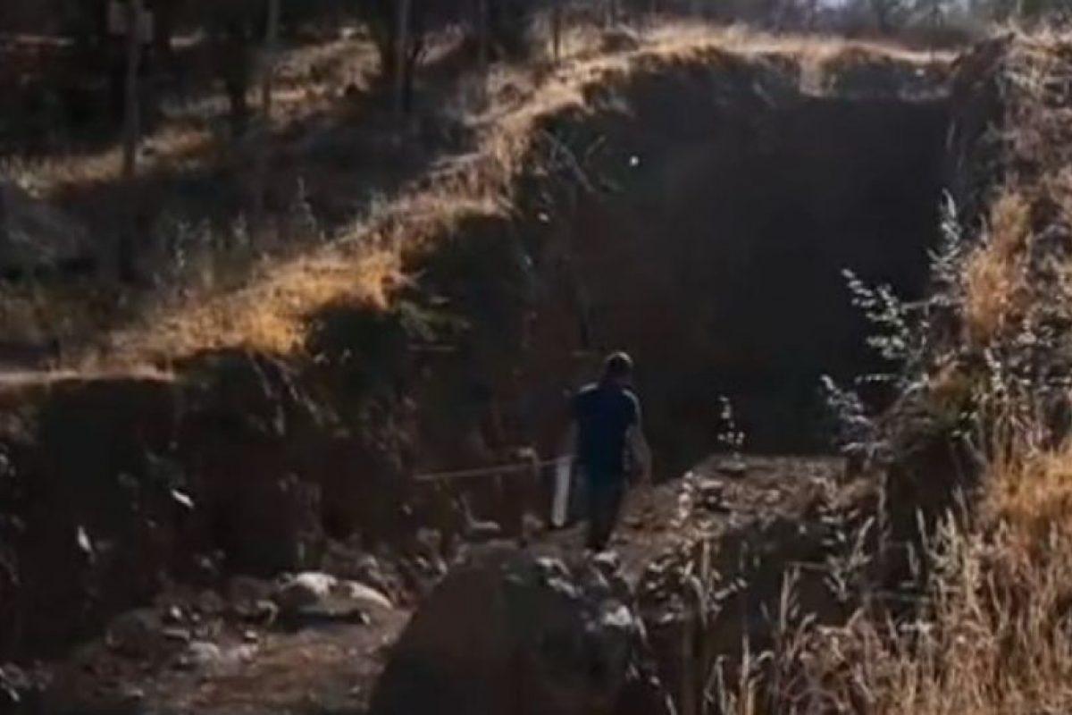 Trabajos sobre falla de San Ramón Foto:Geología Universidad de Chile. Imagen Por: